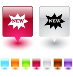 new square button vector image vector image