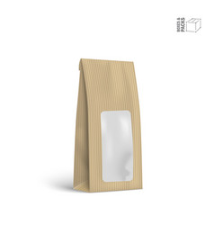 packaging package bag isolated on white vector image