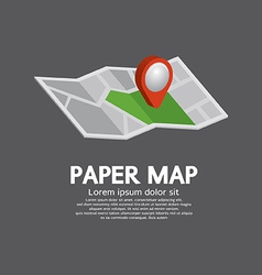 Pin on paper map vector