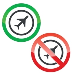 Plane permission signs vector image