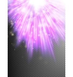 Purple luminous rays eps 10 vector