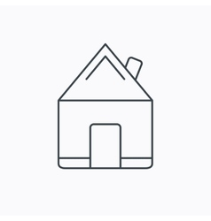 Real estate icon house building sign vector