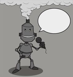 Robot talk vector image