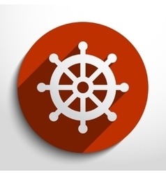 rudder web icon vector image