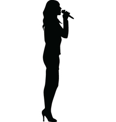 Singer woman vector