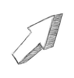 Sketch arrow icon direction design vector