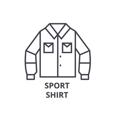 sport shirt line icon outline sign linear symbol vector image vector image