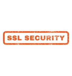 Ssl security rubber stamp vector
