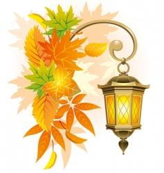 street lantern vector image vector image