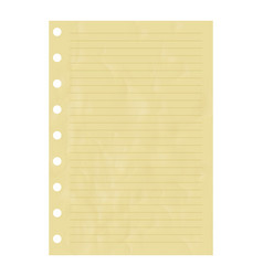 Striped notice paper sheet element vector
