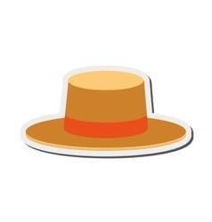 Summer hat icon vector
