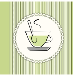 Tea menu card vector image vector image