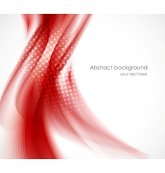 Wavy red background vector image