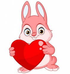 winter bunny valentine vector image vector image