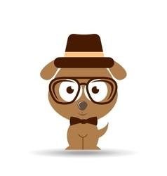 Lovely hipster puppy dog vector
