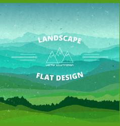 flat landscape textured beautiful vector image