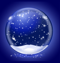 blue magic snow ball on blue background vector image