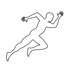 silhouette athlete running icon vector image