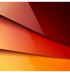 Red and orange paper layers background vector