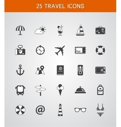 Set of travel flat design icons vector