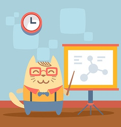 Character teacher in a business suit with vector image