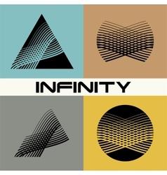 Set abstract infinity logo design template vector