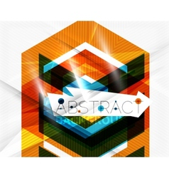 Geometric abstract background arrow design vector