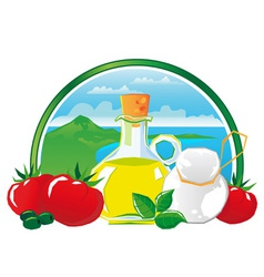 Mediterranean food vector