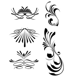 decorative swashes vector image
