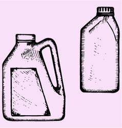 Motor oil plastic bottle vector
