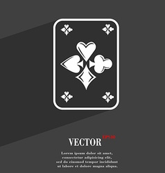 Game cards symbol flat modern web design with long vector