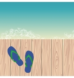 Template with flip-flops vector