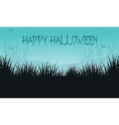 Halloween backgrounds grass of silhouette vector