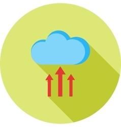 Cloud upload progress vector