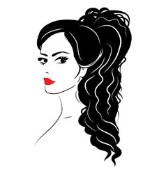 Beauty girl face sketch woman face vector