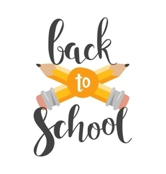 Back to school text vector image vector image