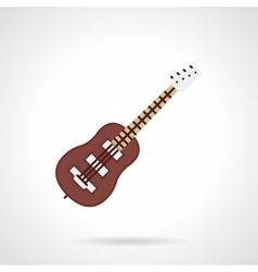 Bass-guitar flat color icon vector image vector image
