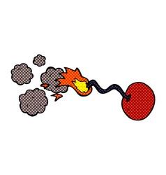 comic cartoon round bomb vector image