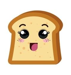 Delicious bread kawaii style vector