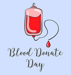 Doodle world blood donor day hand draw vector
