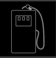 Gas station white color path icon vector