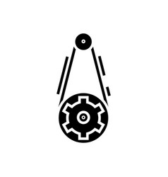 gear icon black sign on vector image
