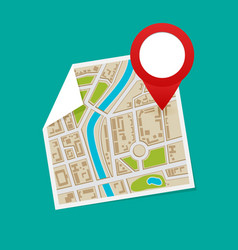 Gps map pointers on the map vector