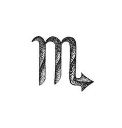 hand drawn scorpio zodiac sign vector image vector image