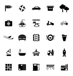 Map place icons on white background vector