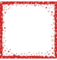 New Year Christmas background with snowflakes vector image