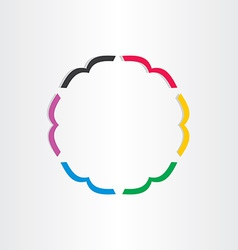 office books in circle icon vector image vector image