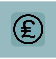 Pale blue pound sterling sign vector