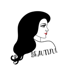 portrait of a beautiful woman vector image vector image
