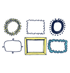 set of multicolored frames vector image